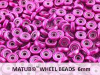 Wheel Beads Metalust Hot Pink 6mm - 5 g