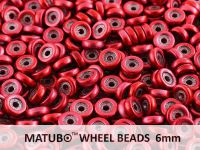 Wheel Beads Metalust Lipstick Red 6mm - 5 g