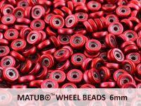 Wheel Beads Metalust Lipstick Red 6mm - 5 g