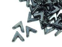AVA Beads Jet Hematite - 2 sztuki