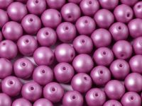 Round Beads Shine Satin Metallic Amethyst 6 mm - 20 sztuk