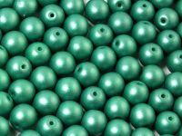 Round Beads Shine Satin Metallic Green Turquoise 6 mm - 20 sztuk