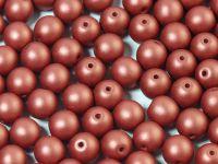 Round Beads Shine Satin Metallic Rust 6 mm - 20 sztuk
