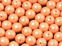 Round Beads Powdery Peach 8 mm - 10 sztuk