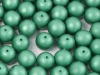 Round Beads Powdery Dark Green 8 mm - 10 sztuk