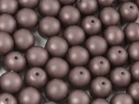 Round Beads Powdery Brown 8 mm - 10 sztuk