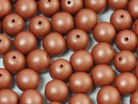Round Beads Powdery Lt Brown 8 mm - 10 sztuk