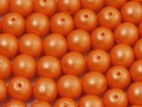 Round Beads Powdery Orange 8 mm - 10 sztuk
