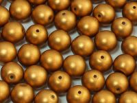 Round Beads Satin Metallic Brass 8 mm - 10 sztuk