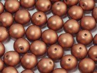 Round Beads Shine Satin Metallic Light Peach 6 mm - 20 sztuk