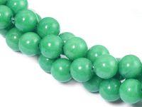 Jadeit seledynowy kula 8 mm - sznur 40 cm