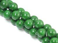 Jadeit zielony kula 8 mm - sznur 40 cm