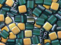 Squares 6mm Matte Emerald Marea - 20 sztuk