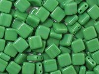 Squares 6mm Opaque Lt Green - 20 sztuk