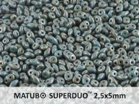 SuperDuo 2.5x5mm Turquoise - Bronze Picasso - 100 g