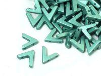 AVA Beads Metallic Emerald - 2 sztuki