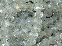 Szklane oponki fasetowane kryształowe AB 6x4 mm - sznur