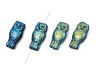 Owls Jet Full AB 15x7 mm - 4 sztuki