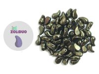 Zoliduo (Right) Luster - Metallic Olivine 5x8 mm - 10 sztuk