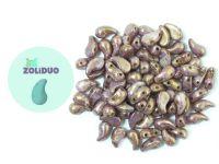Zoliduo (Left) Luster - Transparent Gold Alabaster 5x8 mm - 10 sztuk