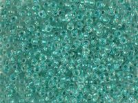 PRECIOSA Rocaille 9o-Green-Lined Crystal - 50 g