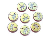 Dragonfly Opal Ruby Full AB 17 mm - 1 sztuka