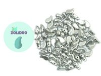 Zoliduo (Left) Matte Metallic Aluminium 5x8 mm - 10 sztuk