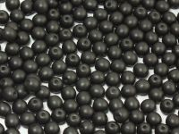 Round Beads Satin Metallic Black 4 mm - opakowanie