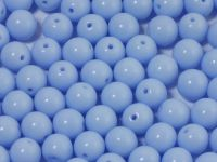 Round Beads Opaque Pale Blue 6 mm - 20 sztuk
