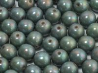 Round Beads Opaque Lt Mint - Nebula 8 mm - 10 sztuk