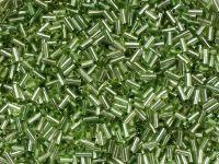 PRECIOSA Bugle 2-Silver-Lined Olive Green - 10 g