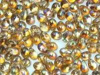 Puffy Teardrops Crystal Brown Rainbow 6x4mm - 20 sztuk