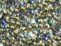 Puffy Teardrops Crystal Golden Rainbow 6x4mm - 20 sztuk