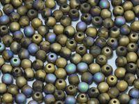 Round Beads Crystal Glittery Amber Matted 4 mm - opakowanie