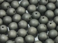 Round Beads Matte Chrome 8 mm - 10 sztuk