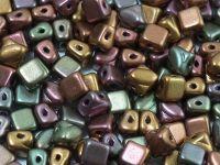 Silky Beads 5mm Matte Metallic Iris Purple - 20 sztuk