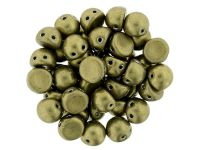 CzechMates Cabochon ColorTrends - Saturated Metallic Golden Lime 7mm - 10 sztuk