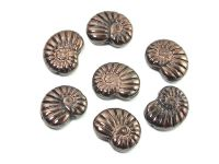 Ammonite Beads Luster - Metallic Bronze Violet 17x13 mm - 2 sztuki