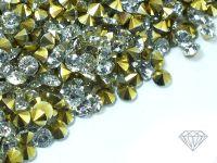 Diamenciki akrylowe kryształowo-złote 3x2mm - 6 g