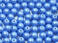 Round Beads Powdery Dark Blue 4 mm - opakowanie
