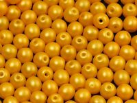 Round Beads Powdery Yellow 4 mm - opakowanie