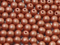 Round Beads Powdery Lt Brown 4 mm - opakowanie