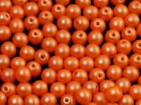 Round Beads Powdery Orange 4 mm - opakowanie