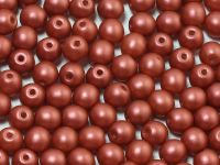 Round Beads Satin Metallic Red 4 mm - opakowanie