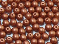 Round Beads Satin Metallic Bronze 4 mm - opakowanie