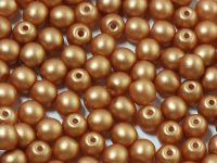 Round Beads Satin Metallic Copper 4 mm - opakowanie