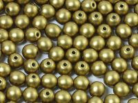 Round Beads Satin Metallic Olive Gold 4 mm - opakowanie