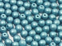 Round Beads Satin Metallic Blue Turquoise 4 mm - opakowanie