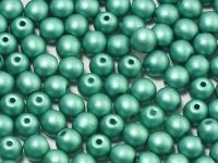 Round Beads Satin Metallic Green Turquoise 4 mm - opakowanie