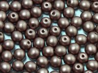 Round Beads Shine Satin Metallic Brown 4 mm - opakowanie